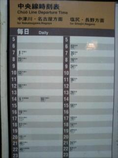 t*[旅] 贄川駅