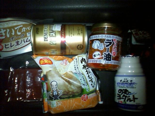 阿智PA さて、出店で350円で買った肉まきおにぎりとこの158円との差は その他諏訪と関係無いお土産