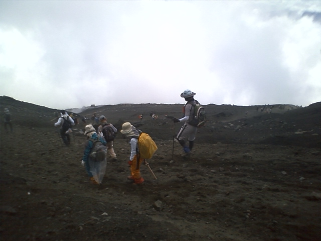 [富士登山]下り7合目