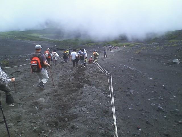[富士登山]下り砂走り