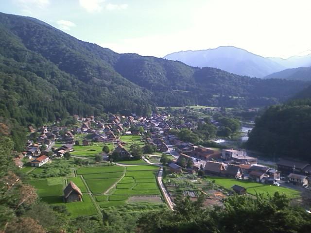 白川郷 城山展望台