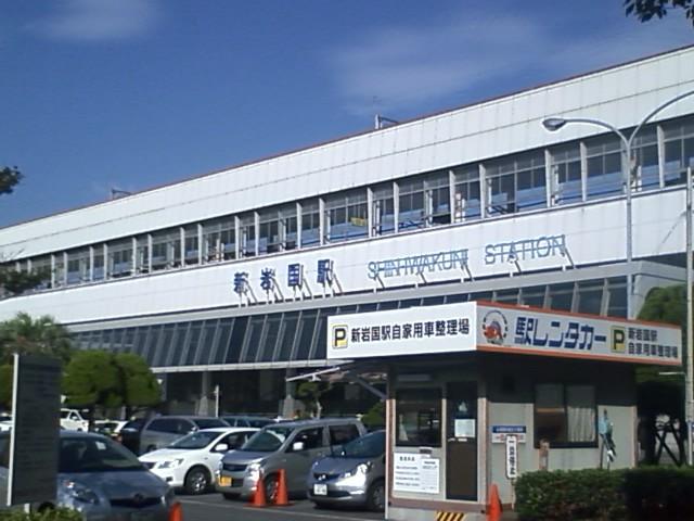 新岩国駅 もう4時かこんな所で止まる訳にはいかないのでナイトラン覚悟で徳山目指そう