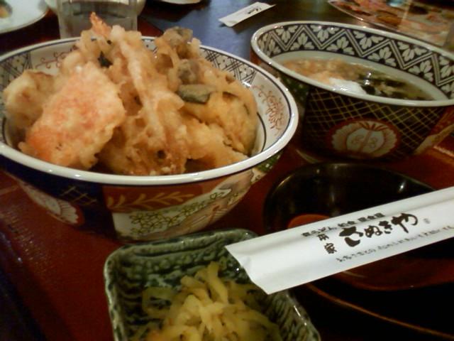 季節の天丼定食710円