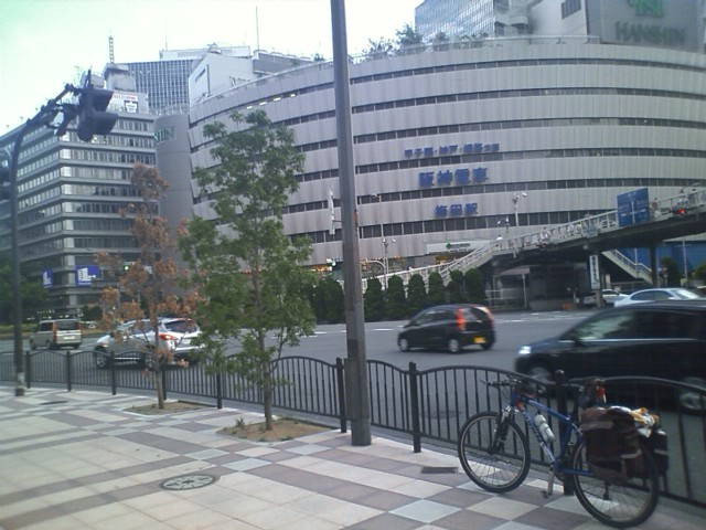 大阪駅到着 これで北海道から小倉まで分割縦断が繋がった。