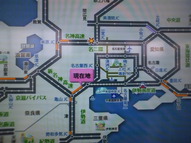 986K 三重県 御在所SA 四日市で自然渋滞にはまった。岡崎は平常通り渋滞してて安心したw