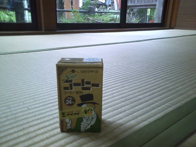 道の駅かほく小栗館 うまく食事中に通り雨をやり過ごせた。畳の休憩所完備だ。