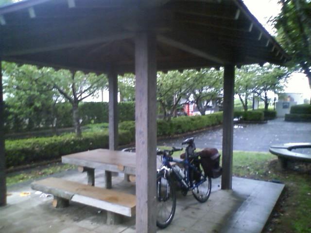 山鹿〜熊本へのサイクリングロードを走っていた。廃線跡のようで、平坦で良く整備されていて快適。