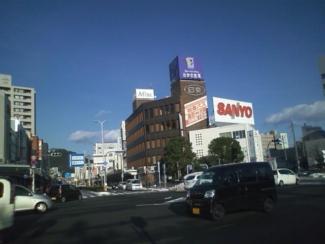 鳥取駅 おお!鳥取と言えば鳥取三洋!今もケータイ作ってるのかな?